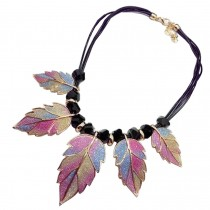 [Leaf Colorful] Stylish Costume Necklace Sweater Necklace Costume Jewelry