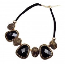 [Gold] Stylish Costume Necklace Sweater Necklace Costume Jewelry