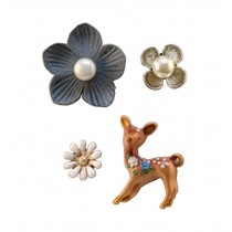 [Deer] A Set of Ladies Elegant Brooches Corsages Collar Decor Brooch