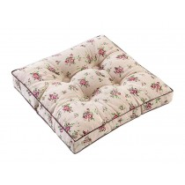 [Flower] Square Seat Cushion Floor Pillow Thickened Chair Pad Tatami