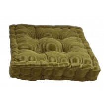 [Green] Square Seat Cushion Floor Pillow Thickened Chair Pad Tatami