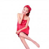 Flannel Bath Towel Cute Bowknot Towel Pajamas Summer Towel Red Towel