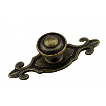 Set of 2 Vintage Bronzed Drawer Handles Door Pulls Furniture Knobs 1 Hole
