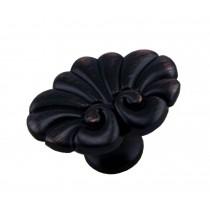 Set of 2 Pretty Single Hole Drawer Handles Wardrobe Pulls Black