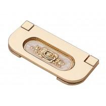 Set of 2 Stylish Cabinet Handles Drawer Pulls Wardrobe Stealth Handles Golden