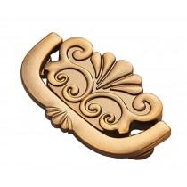 Set of 2 Bronzed Cabinet Drawer Handles Wardrobe Stealth Pulls Yellow