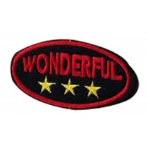 Set Of 2 Wild Cloth Badge Affixed Patch Stickers Applique Patches (Wonderful)