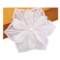 Set Of 2 White Lace Embroidery Fabric Dticker DIY Repair Subsidies