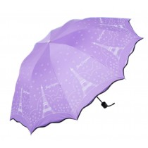 Purple Anti-UV Portable Umbrella Parasol Folding Sun/Rain Umbrella