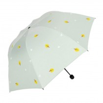 Fashion Creative Folding Vinyl Anti-UV Sun/Rain Umbrella Green