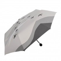 Fashion Creative Art Style Folding Vinyl Anti-UV Sun/Rain Umbrella Gray