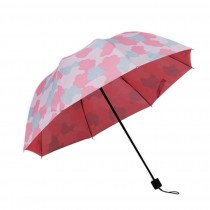 Fashion Creative Colorful Clouds Folding Anti-UV Sun/Rain Umbrella Pink