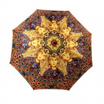 Egypt Style Design Folding Anti-UV Sun/Rain Umbrella, Royal Printing