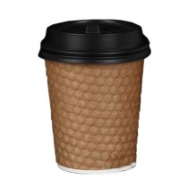 [Diamond] Set of 50 Disposable Coffee Cups Paper Cups With Lids Hot Drink Cup