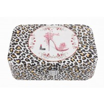 [ Leopard Print ] Jewelry Box Jewelry Organizer Portable Ornaments Storage Case
