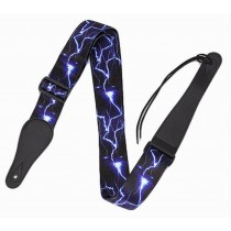 Practical Guitar Equipment Guitar Strap Shoulder Strap [Blue Lightning]