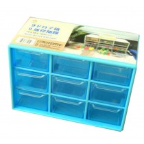 Office Plastic Desktop Storage Cabinets - 9 Office Supplies Desk Organizer Blue