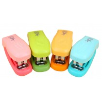 Set Of 2 Cute Mini Portable Desktop Stapler Office Stapler Random Color B