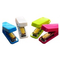 Set Of 2 Cute Mini Portable Desktop Stapler Office Stapler Random Color A