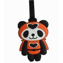 Cute Cartoon Panda Travel Accessories Travelling Luggage Tag/ID Holder ORANGE