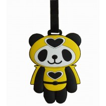 Cute Cartoon Panda Travel Accessories Travelling Luggage Tag/ID Holder YELLOW