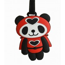 Cute Cartoon Panda Travel Accessories Travelling Luggage Tag/ID Holder RED