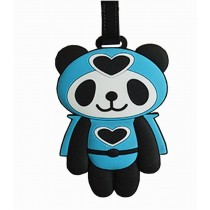Cute Cartoon Panda Travel Accessories Travelling Luggage Tag/ID Holder BLUE