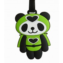 Cute Cartoon Panda Travel Accessories Travelling Luggage Tag/ID Holder GREEN