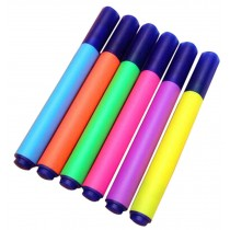 Set Of 5 Lovely Highlighter Color Marking Crayons Dauber Random Color