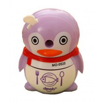 Cute Cartoon Penguin Manual Pencil Sharpener School Office Supplies PURPLE