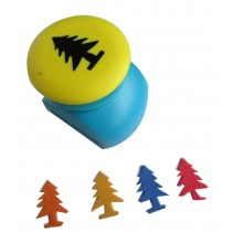 Set of 2 Practical Handwork Punch DIY Paper Punch, Pine Tree Shape, Random Color