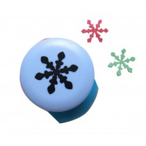 Set of 2 Practical Handwork Punch DIY Paper Punch, Snow Pattern, Random Color