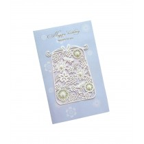 Set of 5 Lovely Creative Greeting Card Elegant Festival Card With Envelope Blue