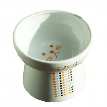 Pet Ceramic Raised Water Bowls/Cat Anit-Spill Food Bowl/Feeding Bowl(250ML)