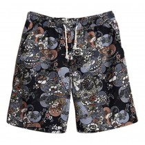 Summer Men's Beach Shorts Seaside Printing Board Shorts Swim Shorts