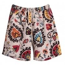 Summer Men's Beach Shorts Seaside Board Shorts Folk Style Swim Shorts