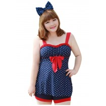 [Cute] Fashion Swimsuits Two Piece Plus Size Swimwear Beach Clothing