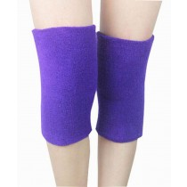 Sports Kneepad Warmer Knee Braces Sleeve Knee Support, Free Size, Purple