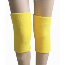 Sports Kneepad Warmer Knee Braces Sleeve Knee Support, Free Size, Yellow