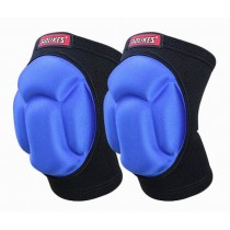 Sports Kneepads Sponge Knee Braces Knee Support, Free Size, Black and Blue