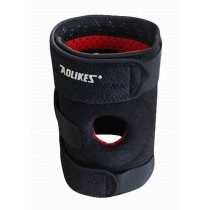Sports Kneepads Knee Braces Knee Support with Spring, Free Size, Black
