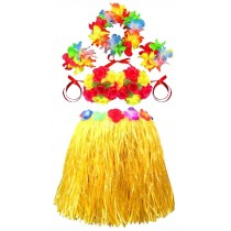 Thick Yellow Skirt Kindergarten Performances Skirt Grass Skirts Yellow