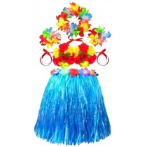 Wedding Flower Girl Dress Skirts Hawaiian Skirts Bright Skirt Blue
