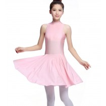 Women's Sleeveless Ballet Dance Dress Leotards PINK, XL(Asian Size)