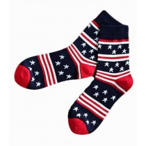 [Three Pairs] Fashionable Tube Male Socks Cotton Odor-proof Men Socks