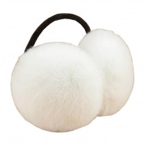 [White] Soft Plush Earmuffs Ear Warmer Winter Earwears