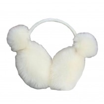 [White] Lovely Plush Earmuffs Ear Warmer Winter Ear Covers