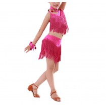 [Qualities] Latin Dancing Dress Girl's Sequins Latin Dance Costumes