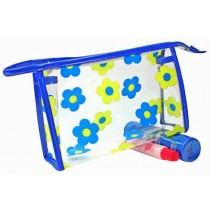 Waterproof Shower Tote Shower Bag Portable Cosmetic Bag for Travel, Blue