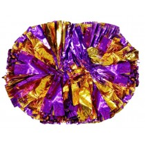 Set of 2 Colorful Hand Flower Cheerleaders Pom Poms Dance Ball Props Games